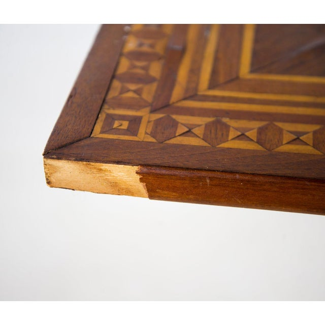 19th C. Victorian Tilt-Top Marquetry Occasional Table For Sale - Image 9 of 13