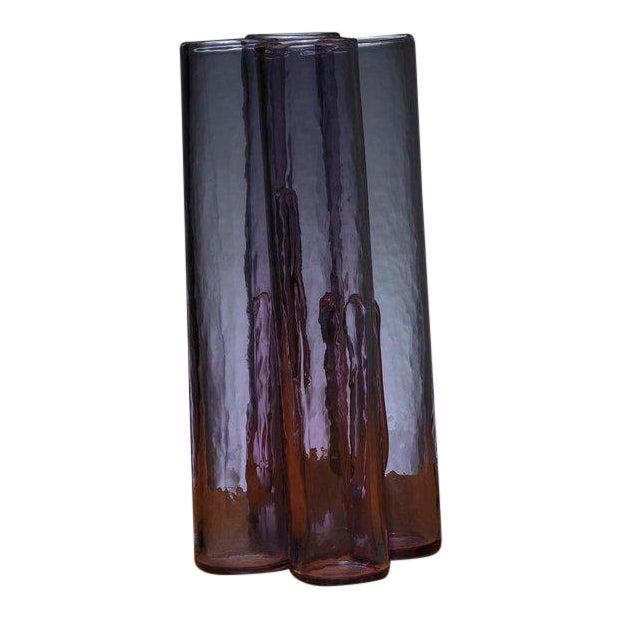 Purple Murano Glass Vase by Barbini For Sale