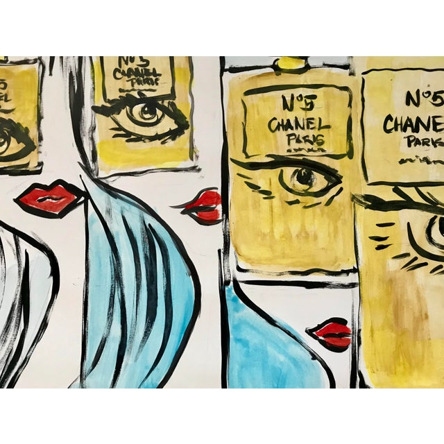 Fashion Pop Art Painting by Tony For Sale - Image 4 of 4