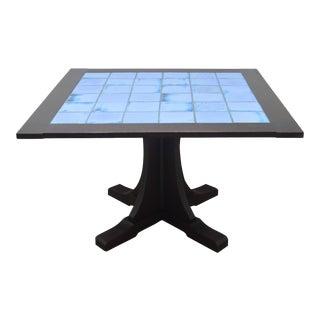 Stickley Mission L. &g.j. Oak and Tile Dining or Poker Table For Sale
