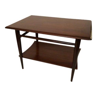 Lane Mid-Century Walnut End Table/Coffee Table With Shelf For Sale