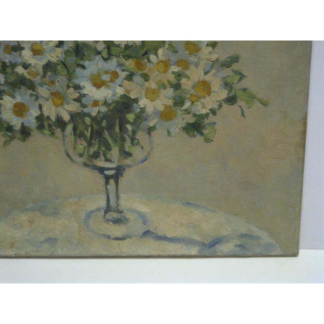 "20th Century Contemporary Original Framed Painting on Canvas, ""Bouquet of Flowers"" by Frederick McDuff For Sale - Image 4 of 8"