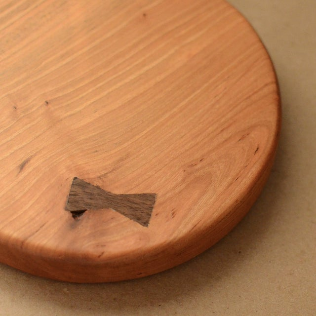 Small Cherry Board with Walnut Bowtie - Image 7 of 8