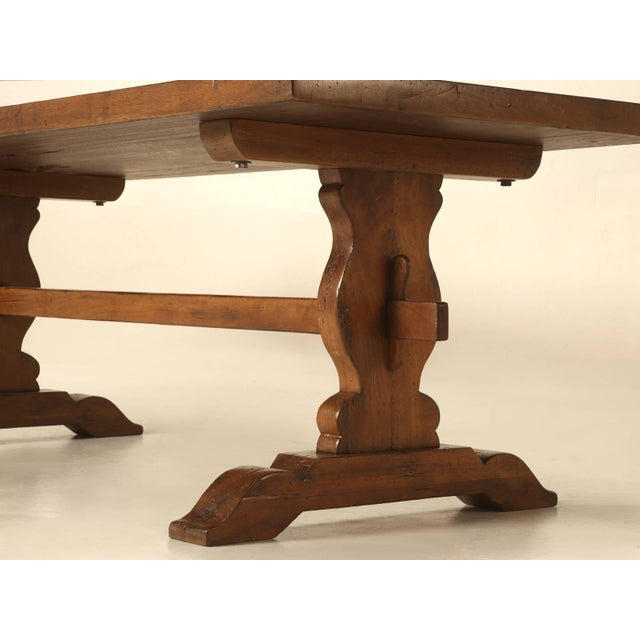 French Trestle Table in Solid Mahogany For Sale In Chicago - Image 6 of 11