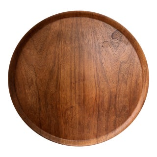 Mid Century Large Teak Tray For Sale