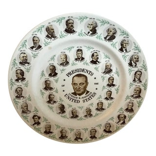 Vintage Lbj President's Plate For Sale