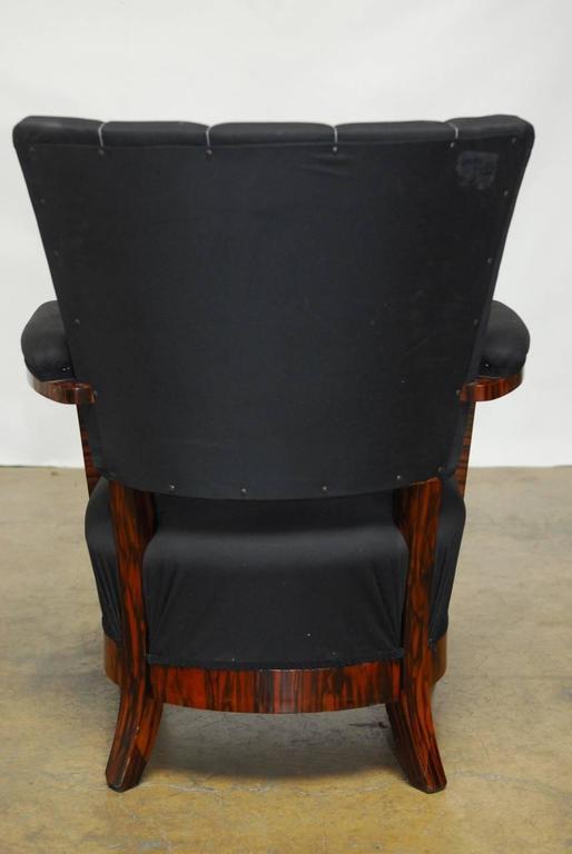 French Art Deco Macassar Club Chairs A Pair Chairish