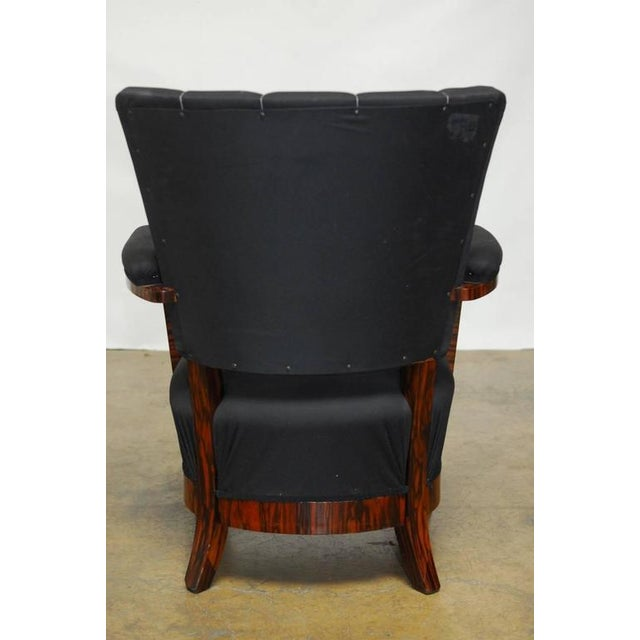 French Art Deco Macassar Club Chairs - A Pair For Sale - Image 10 of 10