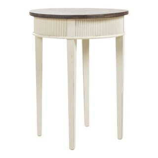 Gustavian Round Lamp Table For Sale