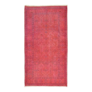 Bright Pink Overdye Rug, 2'9'' x 4'8'' For Sale