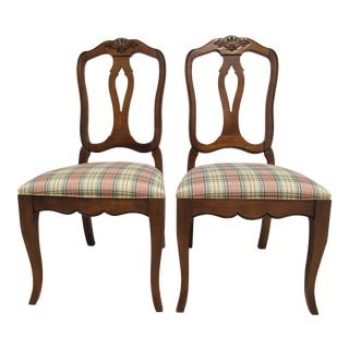 Modern Ethan Allen Country French Dining Room Side Chairs- A Pair For Sale