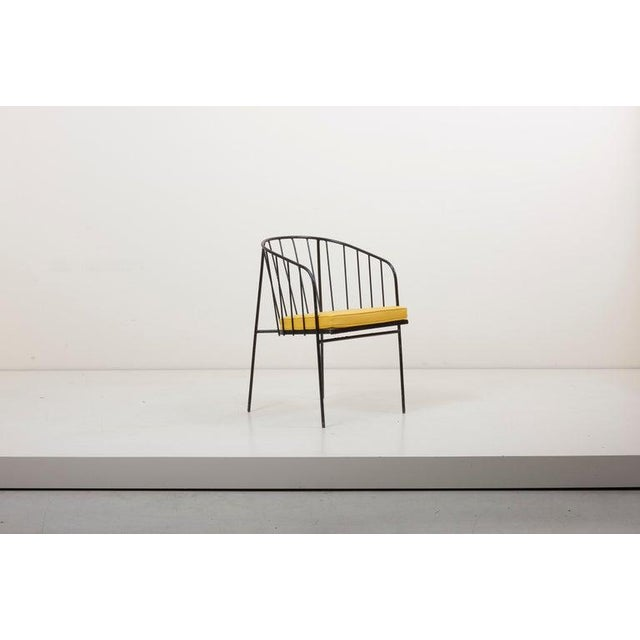 Arbuck Set of Four Iron Rod Outdoor Chairs by George Nelson for Arbuck, 1950s For Sale - Image 4 of 13