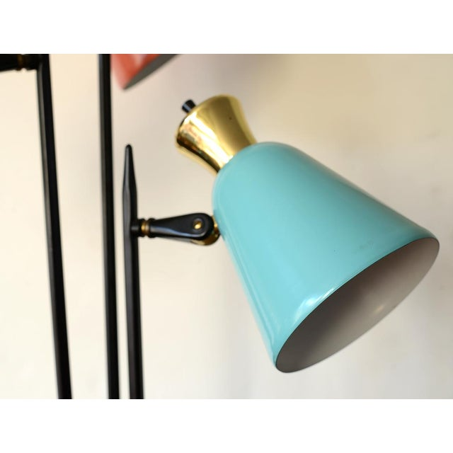 Brass Mid-Century Modern Enamel Table Lamp For Sale - Image 7 of 10