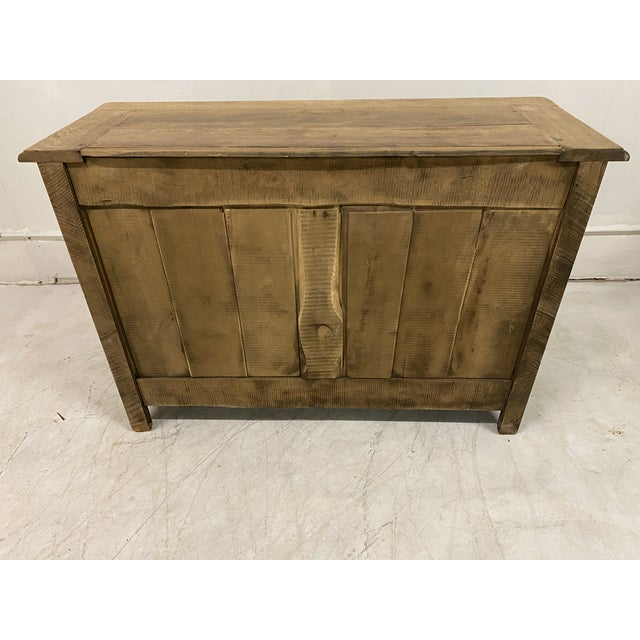 Wood Antique Buffet Provencal Louis XV Style Bleached Walnut Wood For Sale - Image 7 of 8