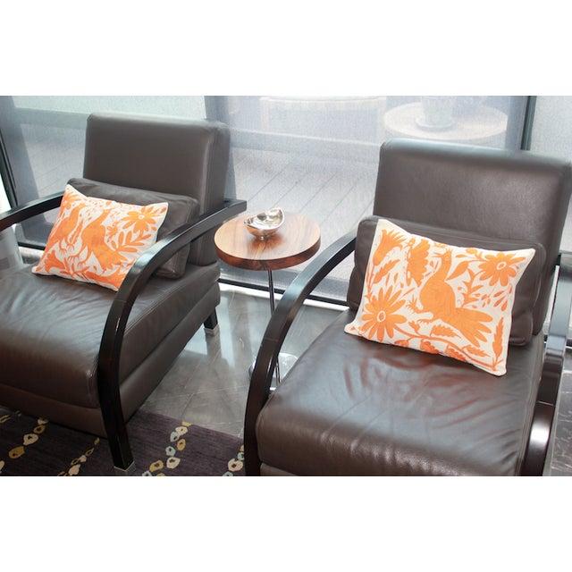 Orange Tenango Pillows - A Pair - Image 5 of 5