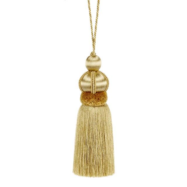 "Gold Key Tassel W Cut Ruche - Tassel Height - 5.75"" For Sale - Image 4 of 4"