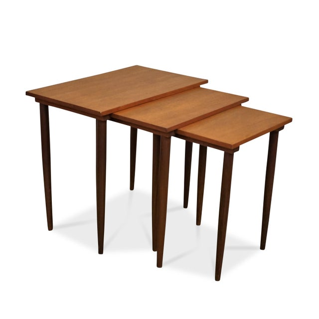 Wood Original Danish Mid Century Modern Nesting Tables - Steen For Sale - Image 7 of 7