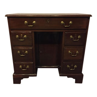 George III Mahogany Kneehole Desk For Sale