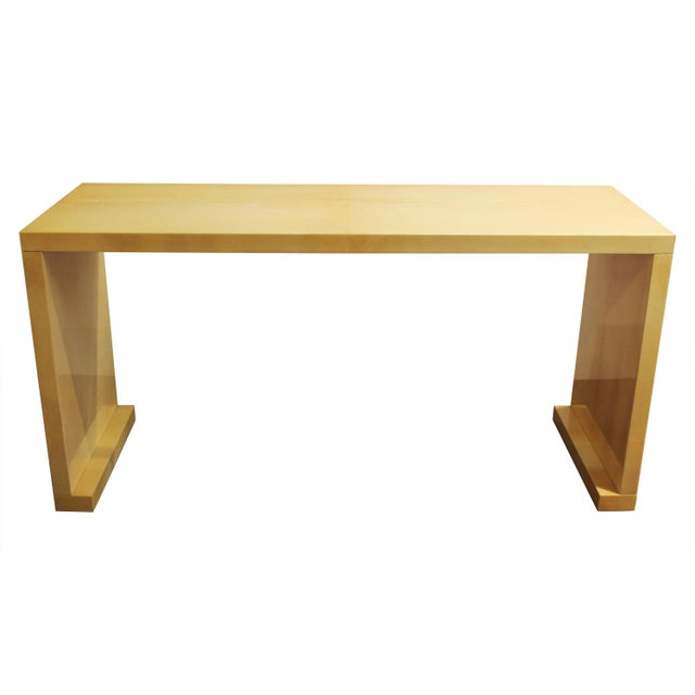 Modern Lacquered Goatskin Console Table Attributed To Karl Springer For Sale - Image 13 of 13