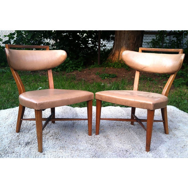 Mid-Century Slipper Chairs by Drexel - A Pair - Image 3 of 5