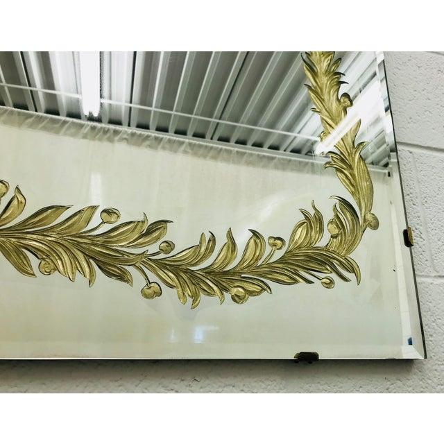 Antique Art Deco Gold Foil Mirror For Sale - Image 12 of 13