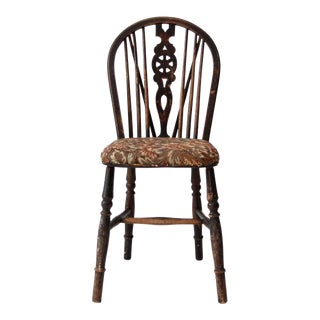 Antique Windsor Chair With Tapestry Seat For Sale