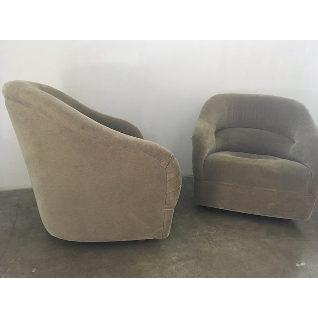 Pair of Ward Bennett Mohair Club Chairs For Sale - Image 10 of 12