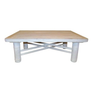 McGuire Wooden Coffee Table