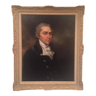 "Original ""Portrait of a Gentleman""Oil Painting by Mather Brown For Sale"