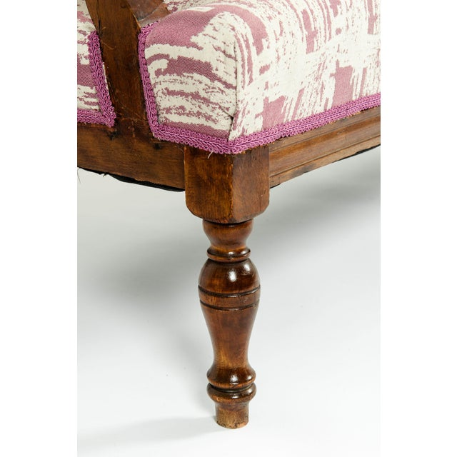 Mid-19th Century Hand Carved Mahogany Victorian Style Settee For Sale - Image 9 of 13