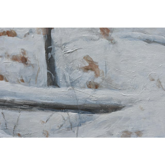 """2010s Contemporary Snowscape Painting, """"Snowy Hillside"""", by Stephen Remick For Sale - Image 5 of 13"""