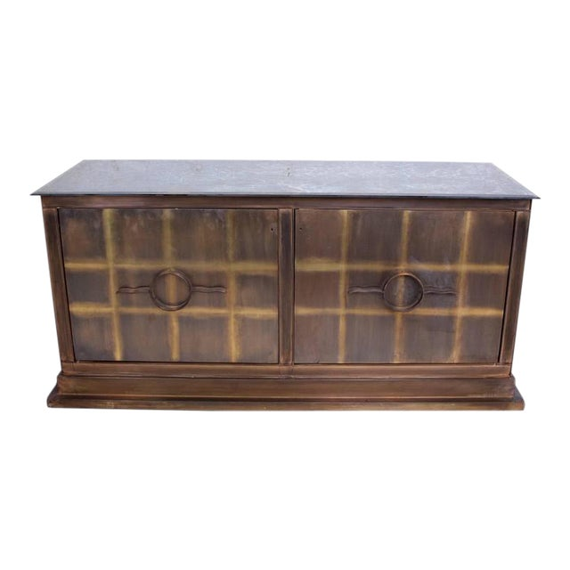 Mid-Century Mexican Modern Bronze Credenza For Sale