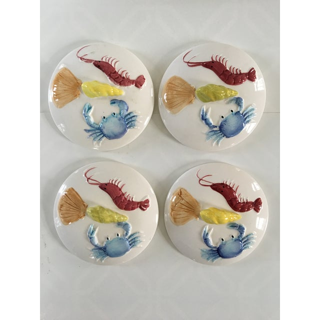 1950s Set of 4 Nautical Oven Proof Hand Painted Casserole Dishes - Made in Japan For Sale - Image 6 of 13