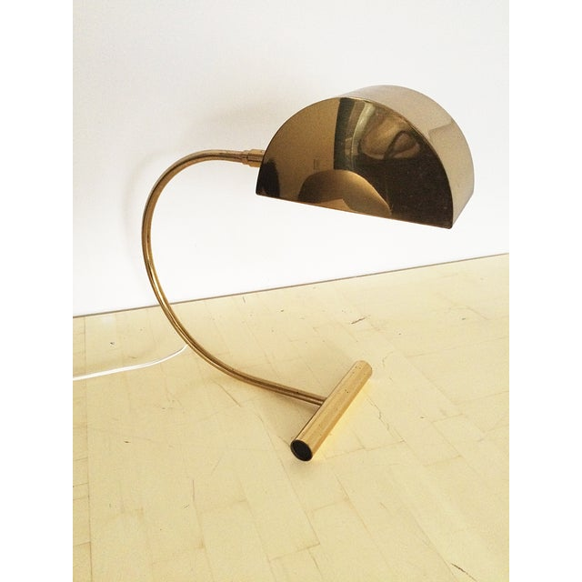 Koch and Lowy Brass Demilune Table Lamp - Image 3 of 11