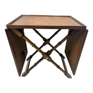 Regency Style Faux Bamboo Serving Table For Sale