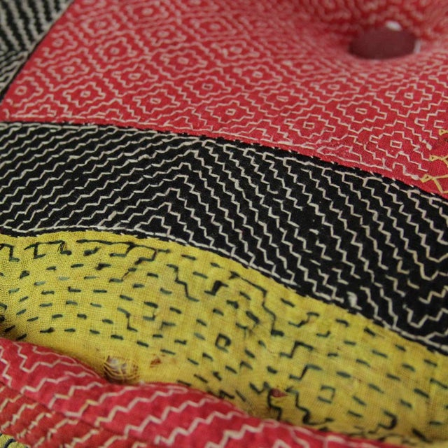 Patterned Mathuravati Pouf - Image 2 of 4