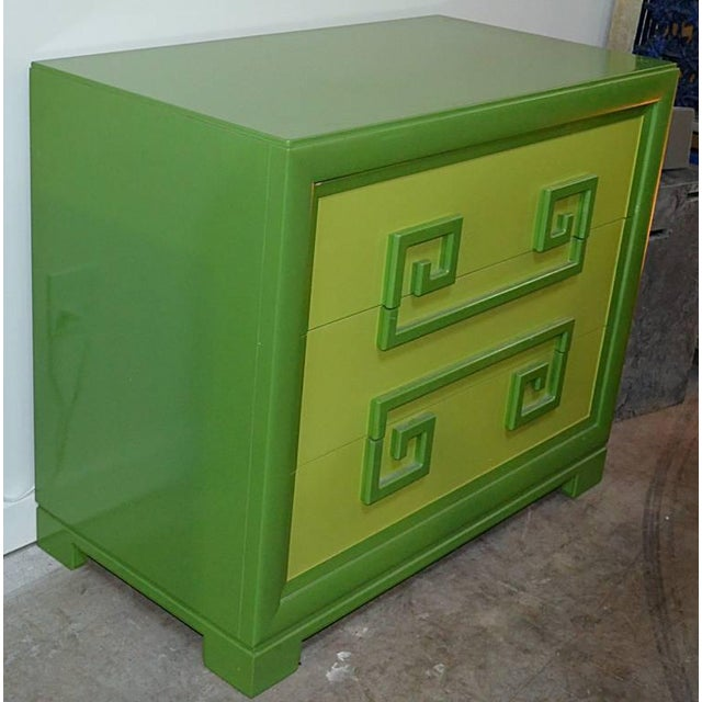 Green Green Kittinger Two-Tone Greek Key Chests - A Pair For Sale - Image 8 of 9