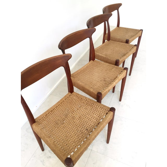 Arne Hovmand Olsen Teak Dining Chairs -Set of 4 For Sale - Image 5 of 10