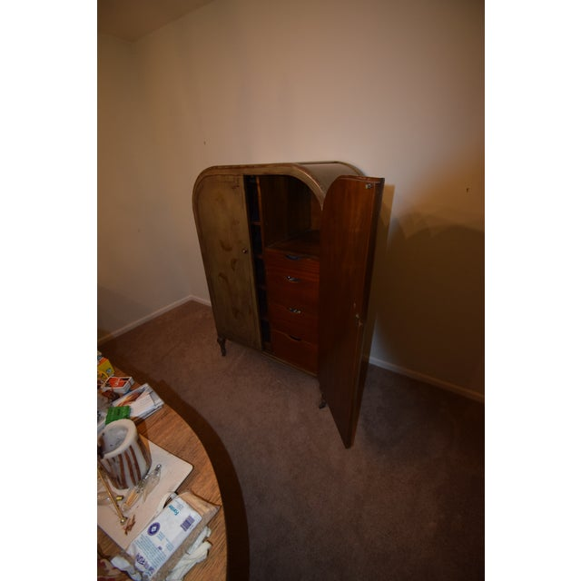 1920s Art Deco Style Hand Painted Armoire For Sale - Image 4 of 6