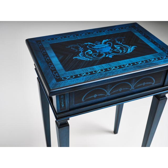 Wood Italian Marquetry Accent Table For Sale - Image 7 of 8