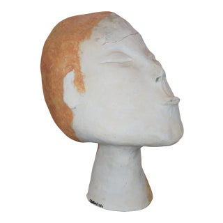 Stress by Deborah Ballard Art Sculpture Figural Head Bust For Sale