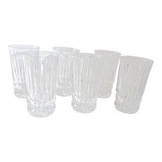 Fostoria Heritage Clear Highball Cut Glasses - Set of 6 For Sale