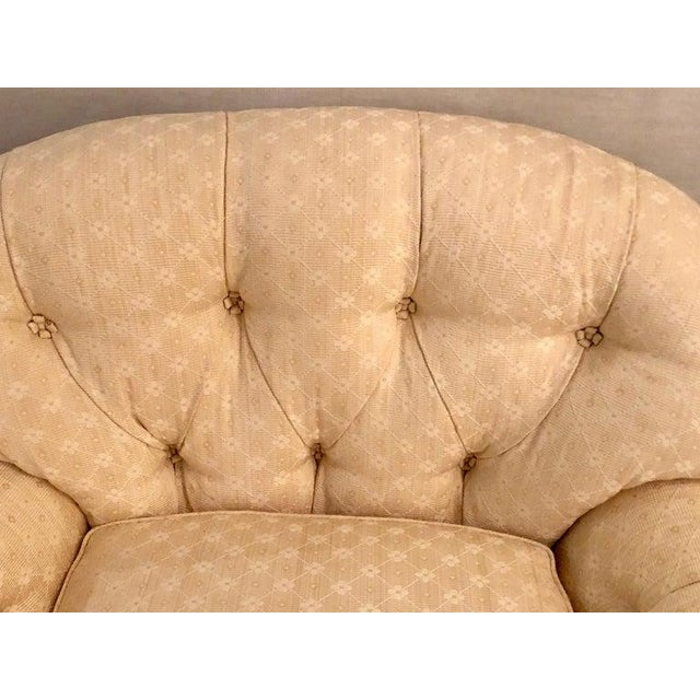 O. Henry House Pair of Lined and Pleated Spectacular Overstuffed Boudoir or Lounge Chairs For Sale - Image 4 of 13