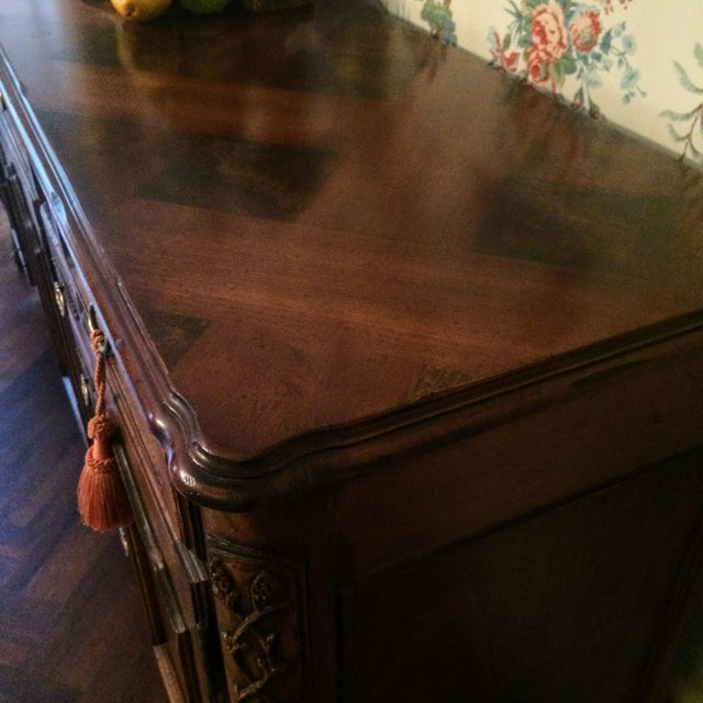 Brown Mount Airy Furniture Co. French Provincial Sideboard Buffet For Sale - Image 8 of 11