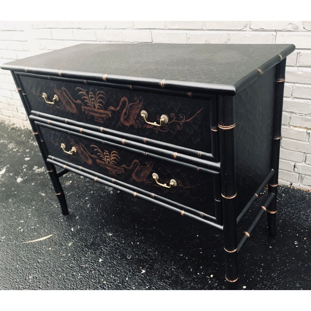 1990s Chinoiserie Side Chests - a Pair For Sale - Image 11 of 12