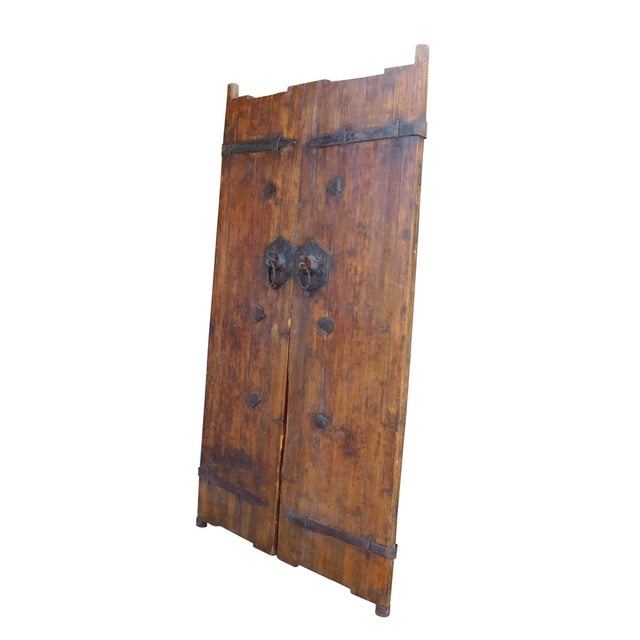 Vintage Iron Hardware Door Gate Wall Panel For Sale - Image 4 of 6