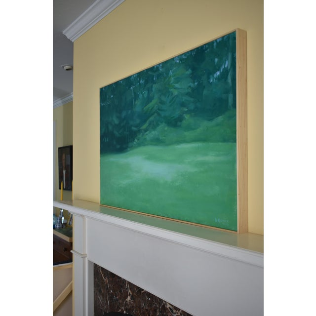 "Contemporary Stephen Remick ""Clover in the Backyard"" Landscape Painting For Sale In Providence - Image 6 of 11"