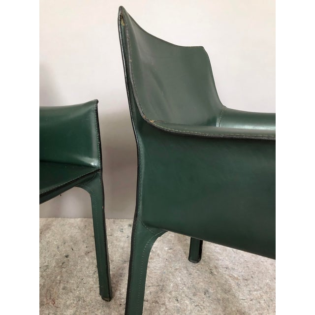 Mario Bellini for Cassina Cab 413 Chairs - a Pair For Sale In New York - Image 6 of 8