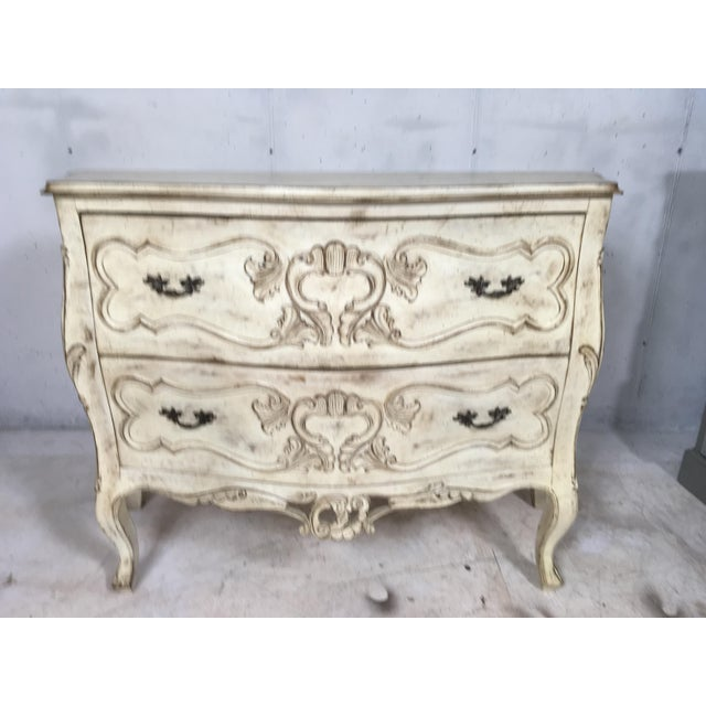 Carved Louis XV Style Painted Chest - Image 7 of 8