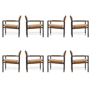 Set of Eight Edward Wormley Armchairs For Sale